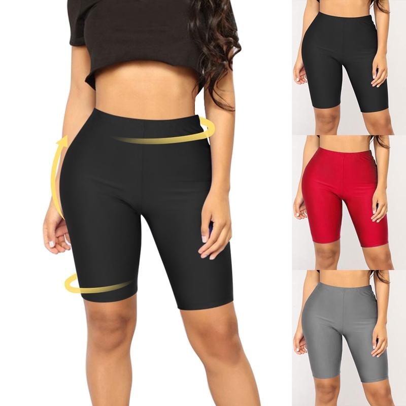 5c90670ac1 2019 Women High Waist Yoga Shorts Leggings Solid Pants Gym Fitness  Compression Fit Tight Push Up Sports Wear Slim Workout Trousers From Neyei,  ...