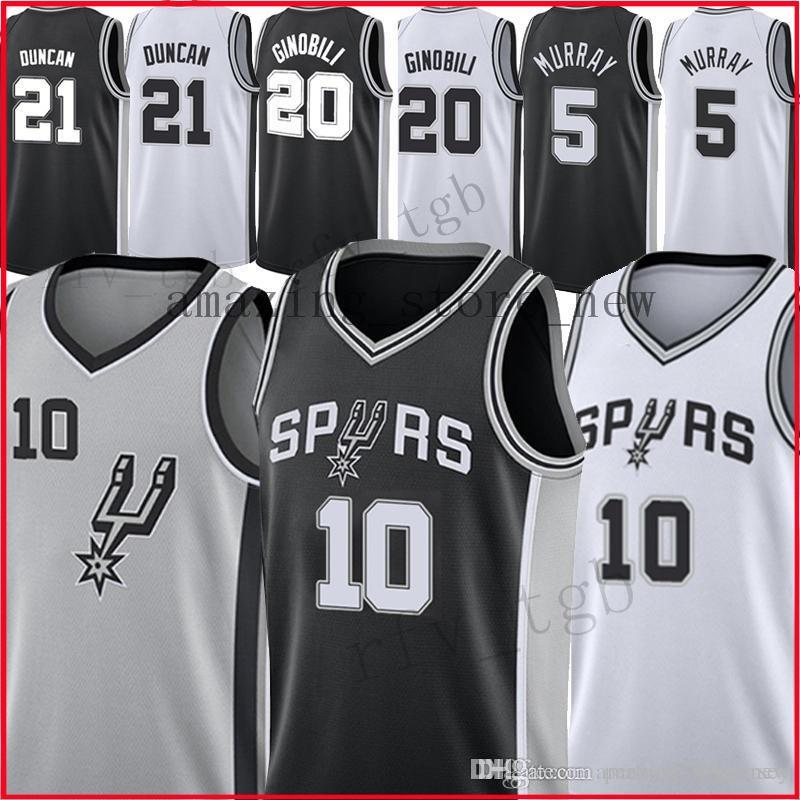 3377e972334 2019 10 DeMar DeRozan San Antonio Men Spurs Jersey 20 Manu Ginobili ...