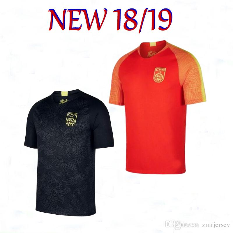 huge selection of de461 c89f0 2018/19 Chinese black dragon soccer jersey black football Jersey the china  national team black dragon Jersey national football uniform