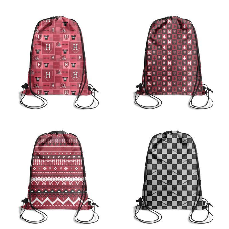 Harvard Crimson Lattice Football Red Female High Quality Drawstring Casual Mochila Mochila ajustable para turistas Sackpack best Sports Bag