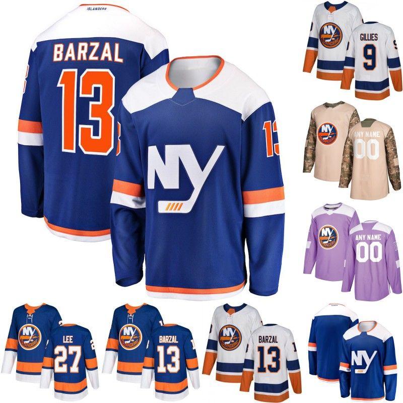 buy popular d5c62 231ec New York Islanders Jersey 1 Thomas Greiss 12 Josh Bailey 13 Mathew Barzal  27 Anders Lee 15 Cal Clutterbuck Mens Womens Youth Hockey Jerseys