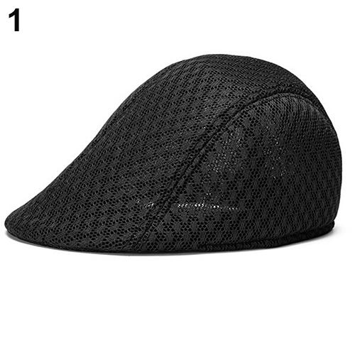 5cb0e8587 2016 Unisex Fashion Duck Mesh Sun Flat Cap Golf Beret Newsboy Cabbie  Baseball Hat