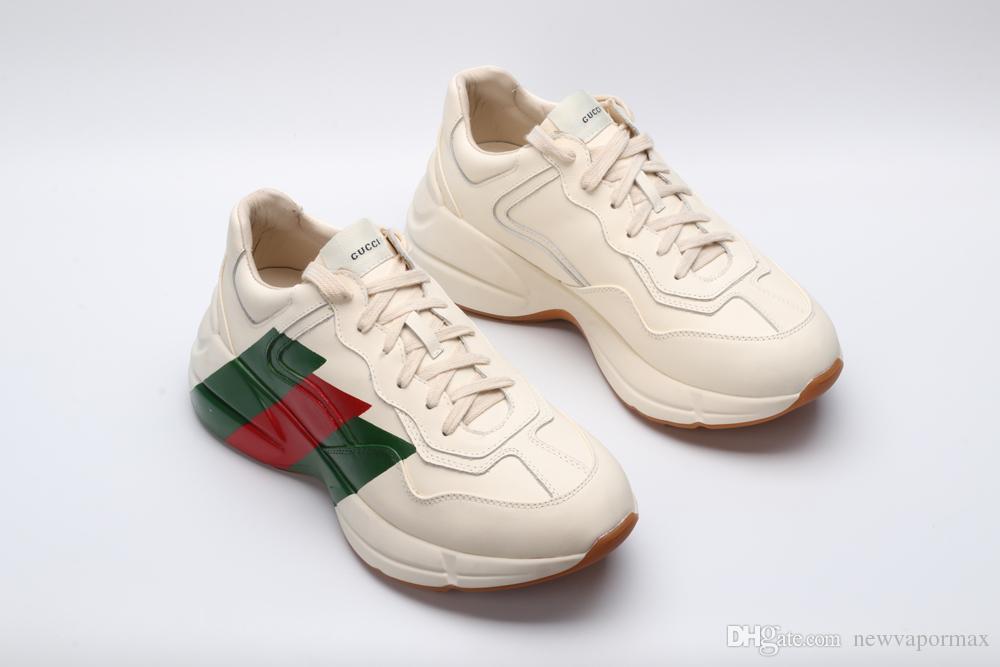 7e1cb8d1238e5a New Men Brand Luxury Rhyton Leather Sneaker Man Designer Shoes for Men  Women Oversized Sport Shoes Biege Men Rhyton Shoe Rhyton Sneakers Men  Desigers Shoe ...