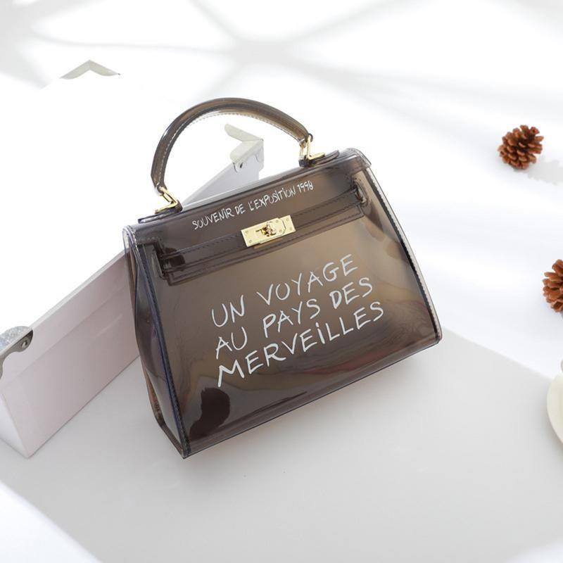 28958197867e New Korean Version Fashion All Matched Shoulder Bag Tote Candy Color Jelly  Transparent Hand Bags Handbag Messenger Crossbody Bag  215956 Evening Bags  Gold ...