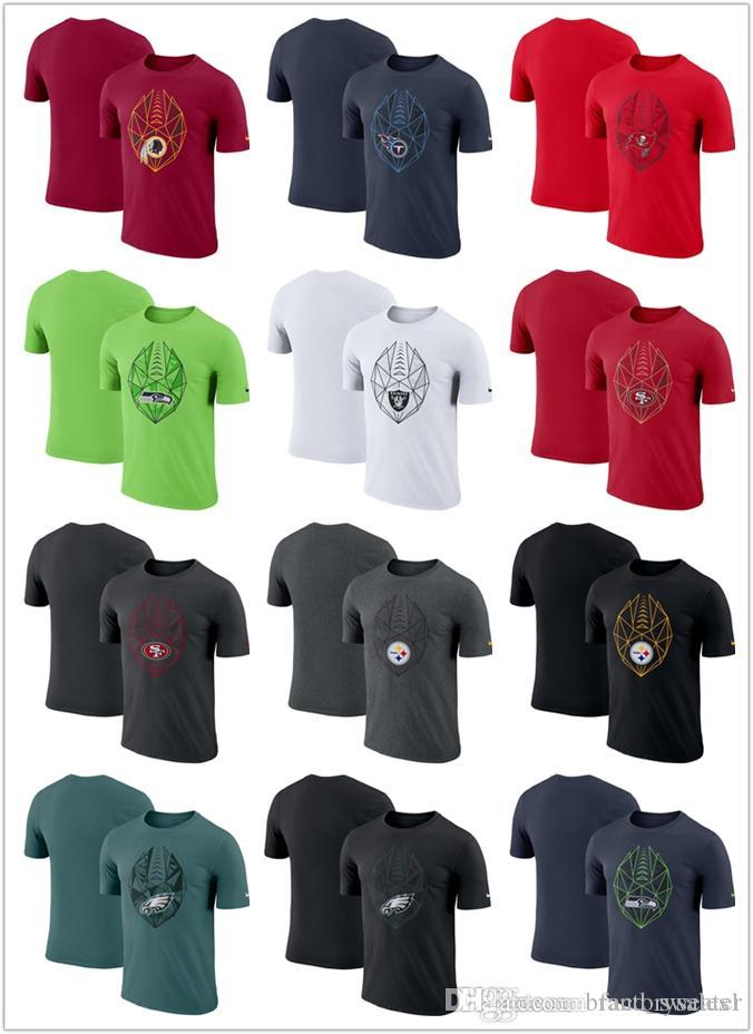 buy popular f4928 5b389 Mens t shirts Fan Gear Icon Performance T-Shirt Eagles Steelers 49ers  Seahawks Buccaneers Titans Redskins