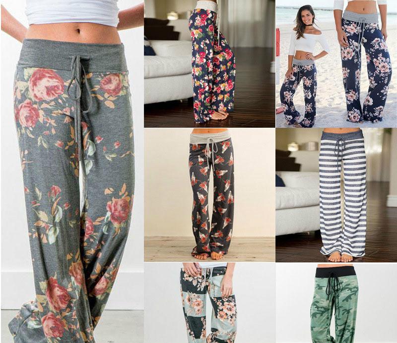 Compre Pantalones Flojos De Las Mujeres Flor De Camuflaje Pantalones  Casuales Pantalones Con Cordón Ropa De Moda Casual De Las Mujeres Ropa De  Envío De La ... 047fd4fa90cc