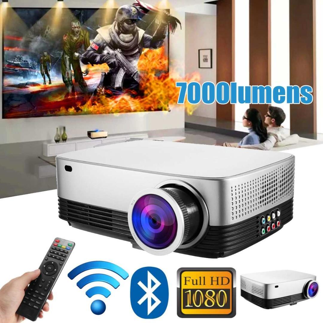 Portable LCD Projector Cinema Theater Movie wifi bluetooth LED Proyector HD Mini Projectors Support 1080P 7000 Lumens