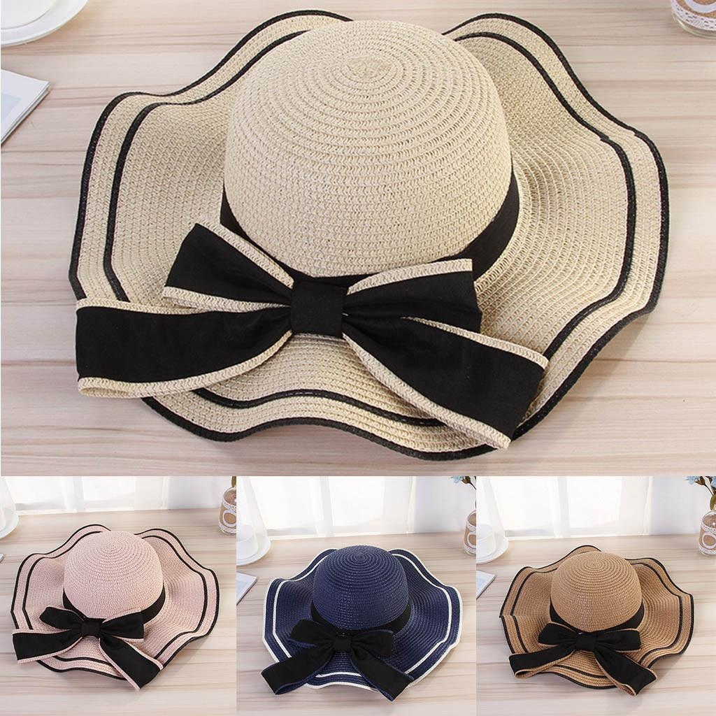 95a9a0c4fee82 Sun Hats For Women Beach Straw Hat Jazz Sunshade Panama Trilby Fedora Hat  Gangster Cap Chapeau Femme Ete Sombreros De Playa  C Hats For Men Sun Hats  From ...