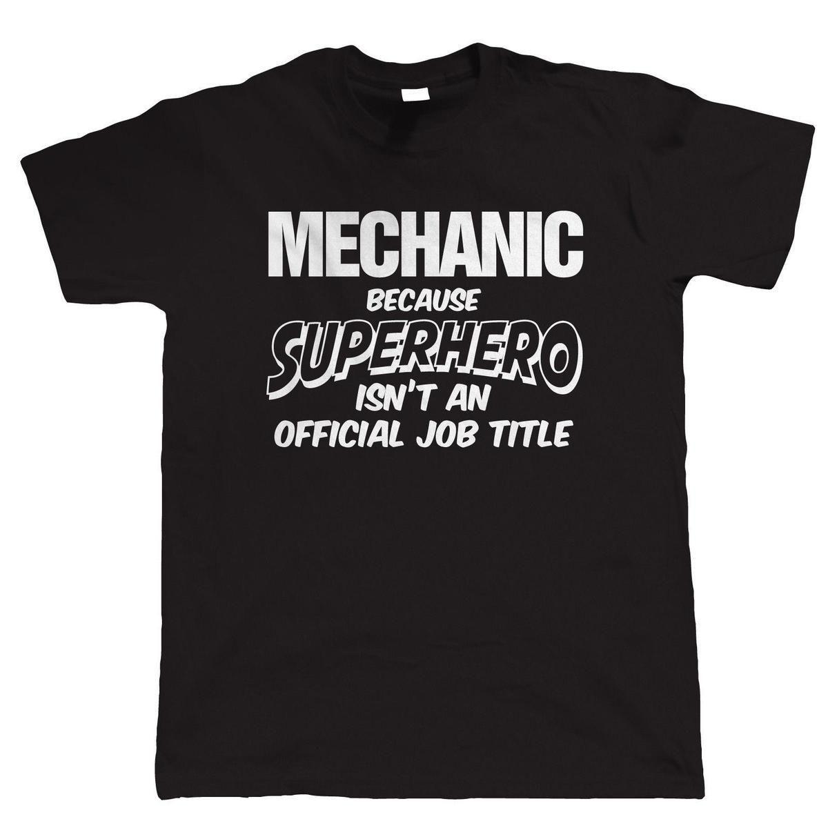 Mechanic Superhero Mens Funny T Shirt Gift For Dad Him Birthday Shirts Tshirt From Jie67 1467