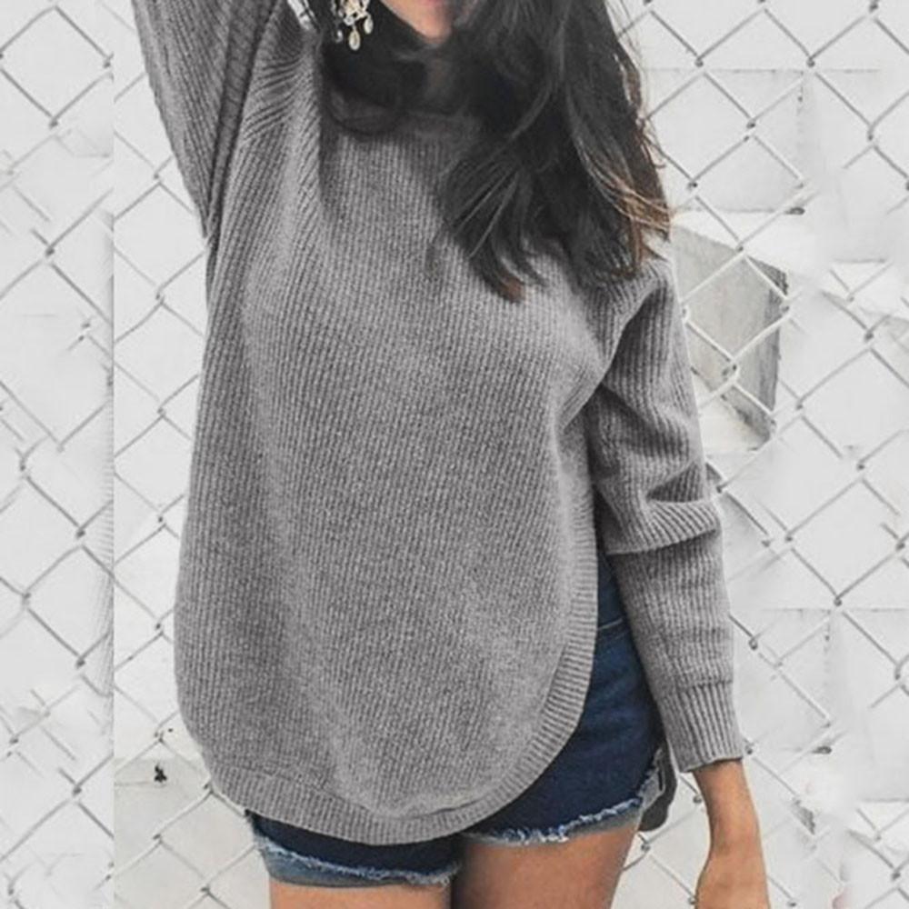 Compre Bow O Neck Suéteres Mujer Invierno 2019 Jerseys De Punto Ropa ... e8dc8971a7b0