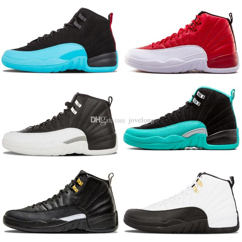 size 40 96574 bb713 12 12s Kids Basketball shoes Retro for mens Winterized black WNTR Gym red  Flu game GAMMA BLUE Taxi the master men Sports Sneakers