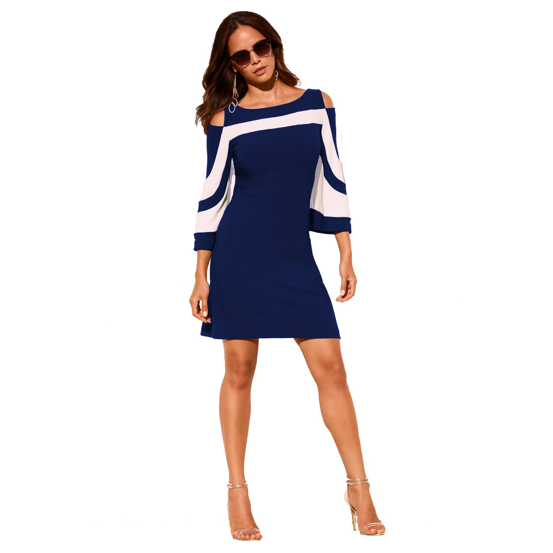 Women s Dress 2019 New Arrival Hot Fashion Woman Casual Square-neck ... c338ab769ee4