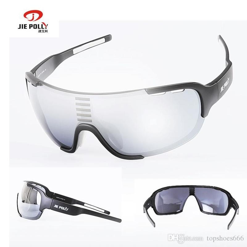 e81f52f2b9 JIEPOLLY Protective Photochromic Sport Cycling Sunglasses Goggles ...