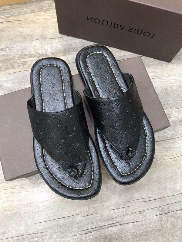 duping520 Black printed flip flops 207508 Men Dress Shoes BOOTS LOAFERS DRIVERS BUCKLES SNEAKERS SANDALS
