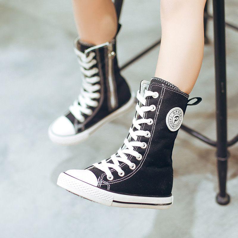 Compre Zapatillas Altas Para Niños Zapatillas De Lona Rojas Y Blancas  Negras Para Niños Y Niñas Martin Botas 4 12 Años Zapatos De Lona Para Niñas  A  34.8 ... 82ea7e7340b81