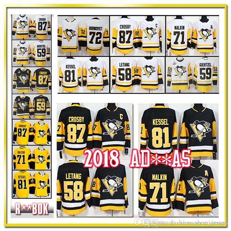buy popular e7cb7 c9993 87 Sidney Crosby Pittsburgh Penguins Jersey Third 71 Evgeni Malkin Phil  Kessel Kris Letang Hagelin Lemieux Murray Maatta Guentzel Hockey