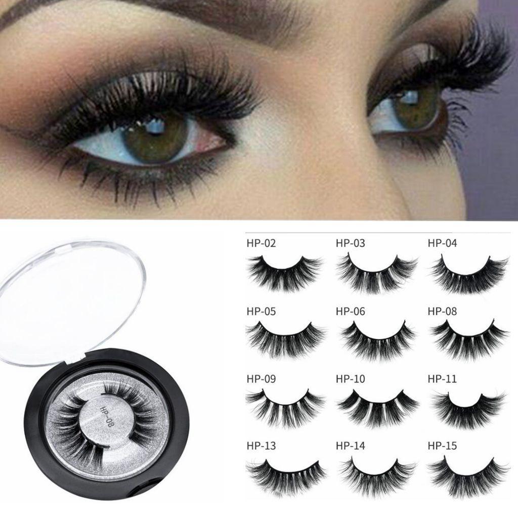3D Mink Eyelashes Natural False Eyelashes Fake Lashes Makeup Eyelash  Extension 3D Mink Lashes Extension Lashes KKA6706