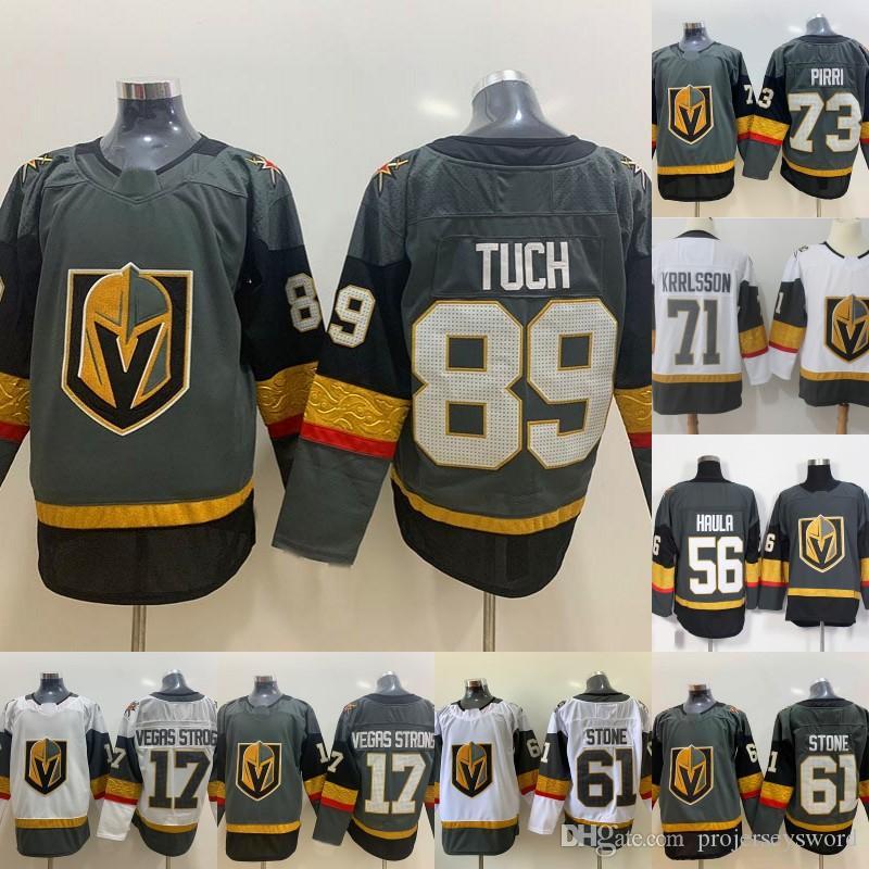 brand new 9461f af41a Mens 89 Alex Tuch Jersey Vegas Golden Knights 73 Pirri 17 Vegas Strong 67  Max Pacioretty 75 Ryan Reaves 56 Erik Haula Hockey Jerseys