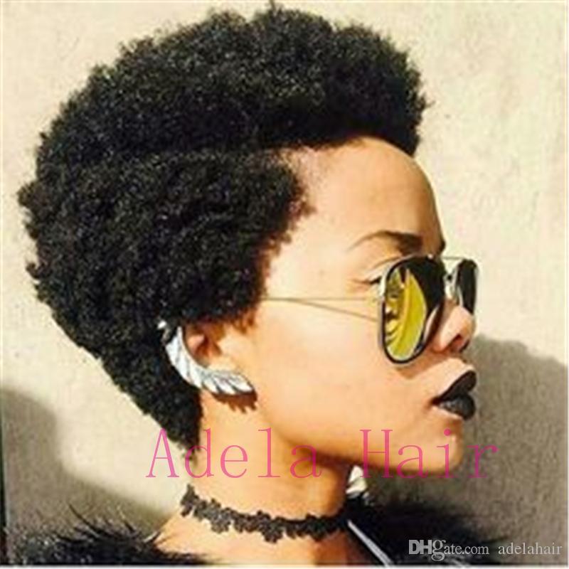 Acheter Perruque Afro Frisée Noire Crépue
