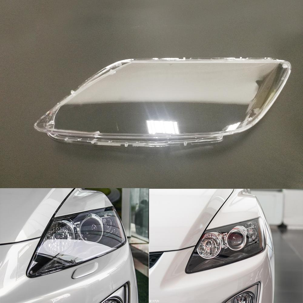 For Mazda CX-7 Car Headlight Headlamp Clear Lens Auto Shell Cover Driver &  Passenger Side
