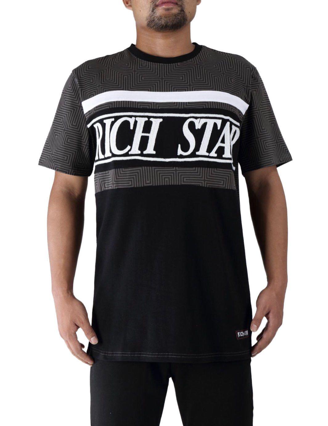 0297b543 High Quality Custom Rich Star Black Big Logo Tape Block T Shirt 100% Cotton  Casual Printing Short Sleeve Men T Shirt O Neck Casual Shirts T Shirts With  From ...