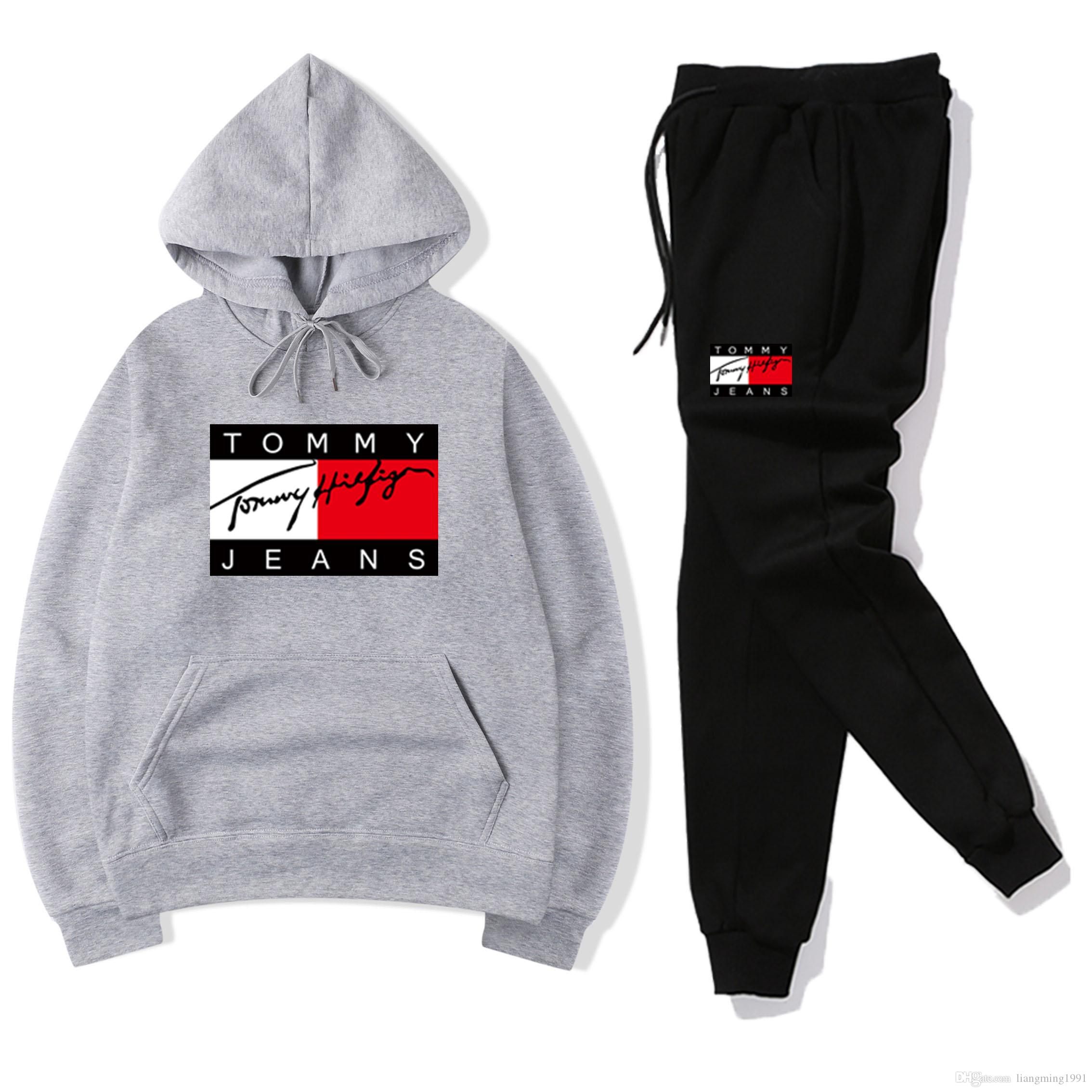 buy popular d0837 db71f Designer off Men s white Tracksuits Sportswear Sets Jogging Suits Hoodies  Men Sweatshirts loose Suit Mens pants Brand Clothing 14 style
