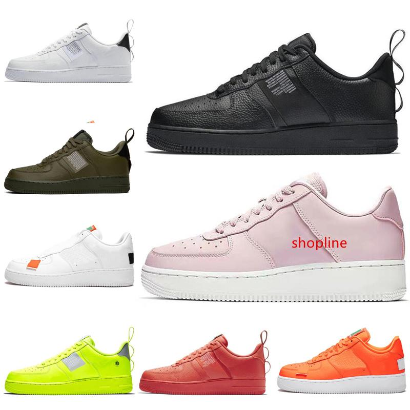 Utility Designer Shoes 1 One Orange Triple Black White Olive Casual Shoes Skateboarding Women Mens Trainers Sports Sneakers Free Shipping