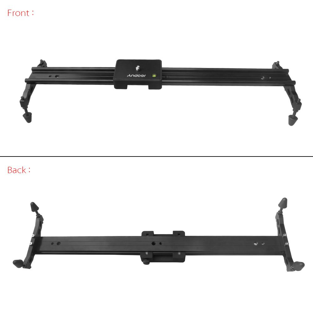 """60cm / 24"""" Video Track Dolly Camera Slider Stabilizer System Aluminum Alloy for Canon Nikon Sony DSLR Cameras Camcorders"""