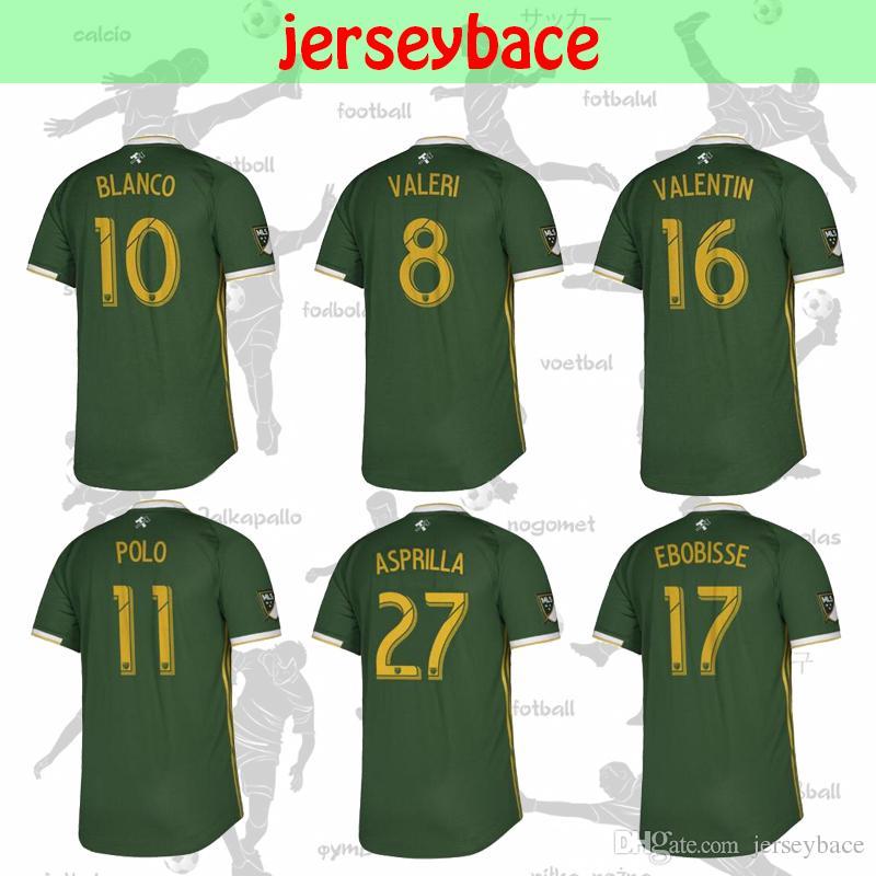 premium selection 8414d 0b49a New 19 20 BLANCO soccer jersey thai quality PORTLAND TIMBERS HOME VALERI  VALENTIN CHARA ASPRILLA EBOBISSE MELANO POLO men Football Shirt