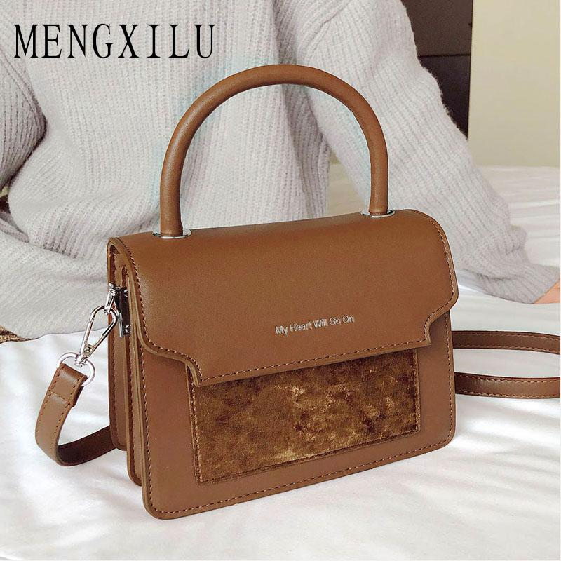012109f7f5d3 2019 Crossbody Bags For Women Vintage Flap Suede Leather Luxury Handbags  Women Bag Designer Ladies Hand Shoulder Messenger Bag