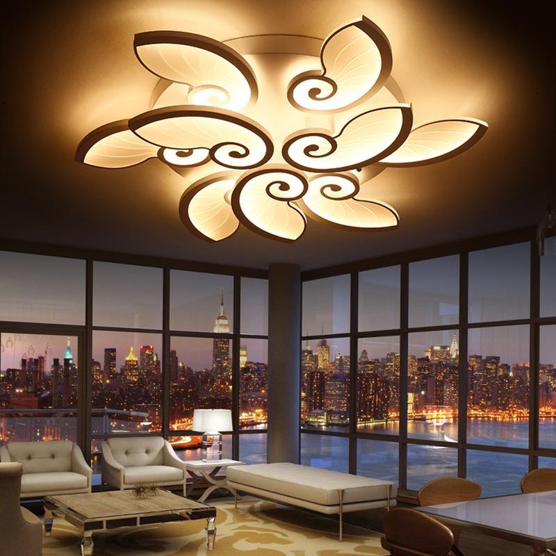 Großhandel Moderne LED Kronleuchter Acryl Lampen Wohnzimmer ...