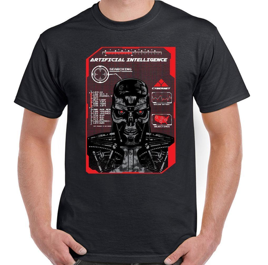 Artificial Intelligence Mens T-Shirt Terminator Style