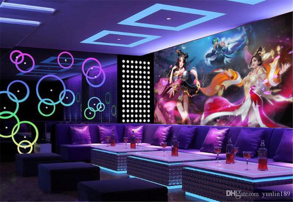 Wholesale Bar KTV 3d Wallpaper Sexy Beautiful Girl Promotion Decoration Indoor Advanced Practical 3d Wallpaper