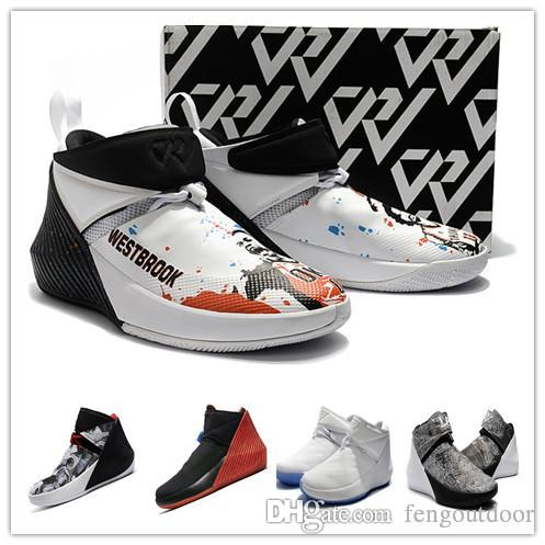 2019 SALDI Russell Westbrook Why Not Zer0.1 Immagine speculare George Adams North Carolina Scarpe da basket per uomo Zero 1 Sport Designer Sneakers