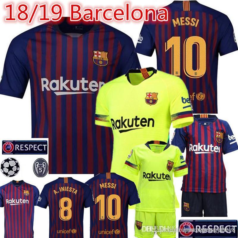 cheap for discount 32899 3b971 2018 Barcelona MESSI #10 Soccer Jerseys A.INIESTA #8 Suárez #9 Dembele #11  Coutinho #14 football Soccer Jerseys Thai 18 19 football shirt