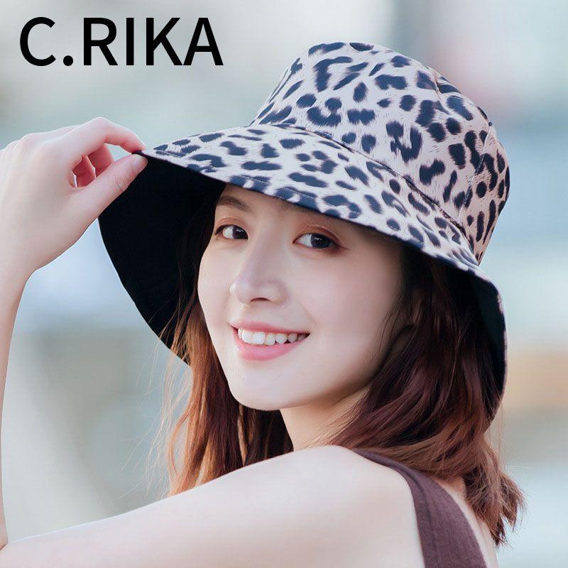 c87b25cd9 New Wide Brim Double Floppy Sun Hat For Women Leopard Reversible Seaside  Vacation Cap Summer Ladies Korean Beach Hat Bucket Hats Funny Hats Hat  World From ...