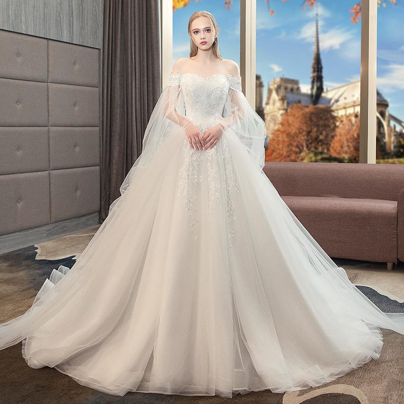 6180dad846e New Bride Princess Towed Princess Dream Big Size Fat Mm High Waisted  Pregnant Women To Cover The Pregnant Belly Winte Mature Wedding Dresses  Photos Of ...