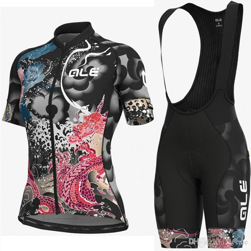 2019 ALE woman Team Summer Cycling Jersey Ropa Ciclismo Short Sleeve Bike shirt Bib shorts conjunto quickdry mtb Ropa de bicicleta