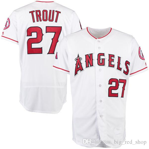 f1b12ede695 2019 27 Mike Trout Angels 17 Shohei Ohtani Jersey Men Stitched Baseball  Jerseys Cheap Wholesale From Big red shop
