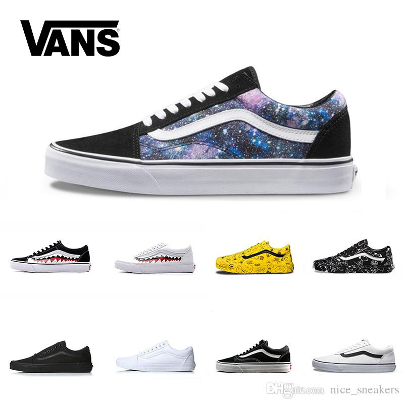 bf8797f4c9 Vans Old Skool Men Women Casual Shoes Rock Flame Yacht Club Sharktooth  Peanuts Skateboard Black White Mens Sport Running Sneaker Sale Online  Casual Shoes ...