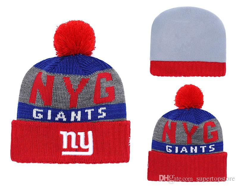 c28b843240826 2019 Wholesale Top Quality Hip Hop Beanies Men Women Sport New York Giants  Cuffed Knit Hats Cheap Fashion Hip Hop Winter Warm Beanie Skull Caps From  ...
