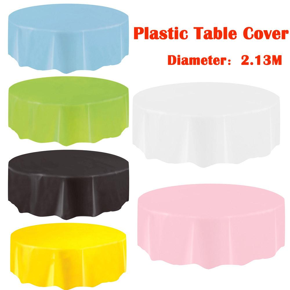 Marvelous Large Disposable Plastic Round Tablecloths Dining Party Birthday Restaurant Table Cover Oilproof Waterproof Table Cloth Tapete Download Free Architecture Designs Grimeyleaguecom