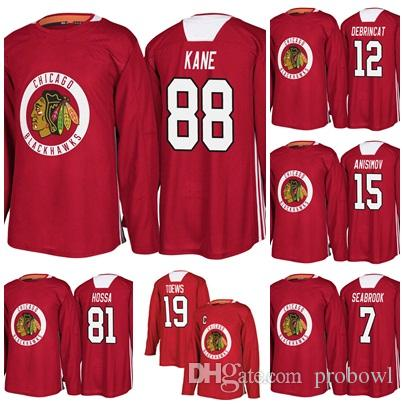 2e14686b7 2019 New Season Practice 88 Patrick Kane Chicagao Blackhawks 19 ...