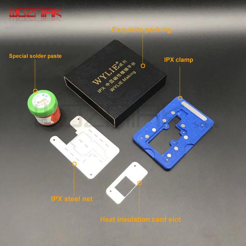 B70 for iphone x Jig Mainboard IC CHIP Location fixed fixture Repair Stannum planting Fixture suit + Plant tin stencil + Solder