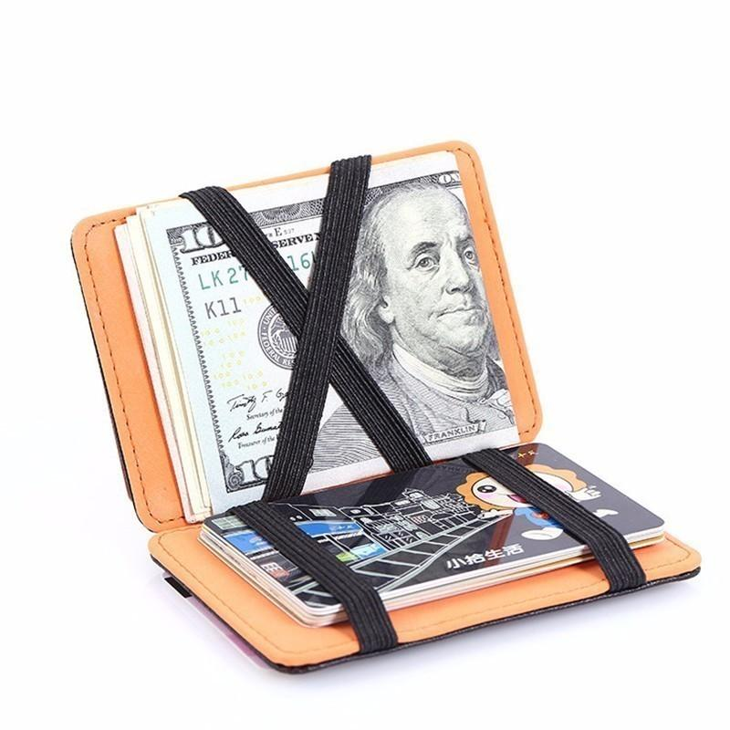 7fc0ea0e50bc 1pc High Quality Leather Money Clip Wallet Solid Male Purses Designer Clip  Cash Holder Card Cases Top Slim Wallet Id Credit Card
