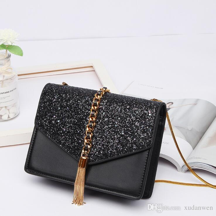 532f9f6ab1 2019 The Hottest Brand Designer Ladies Bag Tassel Chain Fashion Crossbody  Shoulder Bag High End Women Commuter Handbag Side Bags Handbag Brands From  ...