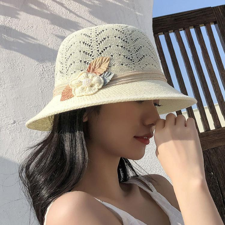 Sun Hats For Women Casual Sunscreen Solid Wide Breathable Brimmed Floppy Foldable Beach Hat sombrero mujer verano