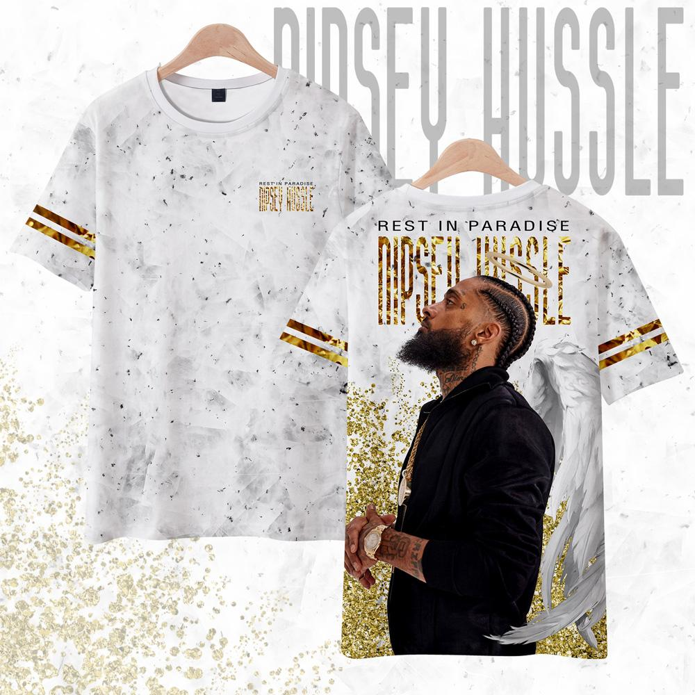 best place select for best incredible prices NIPSEY HUSSLE T Shirt Men Harajuku Streetwear Summer 3d Print T-shirt Mens  Clothing Casual Oversized T Shirt Hip Hop Custom