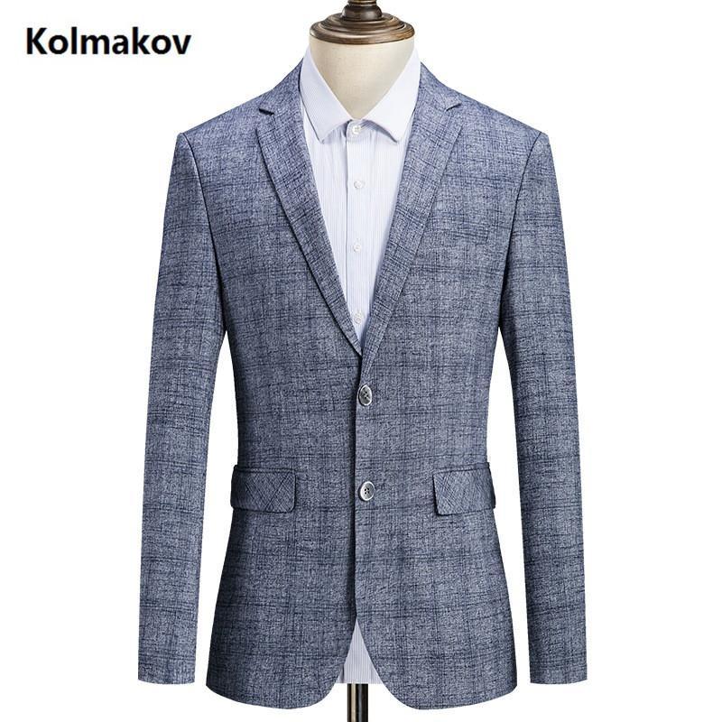 d05d4e5cb4e 2019 spring Autumn new style suits men s fashion casual Slim Fit blazers men  coats jacket Classic business blazer man size M-4XL. Time Limited Sale