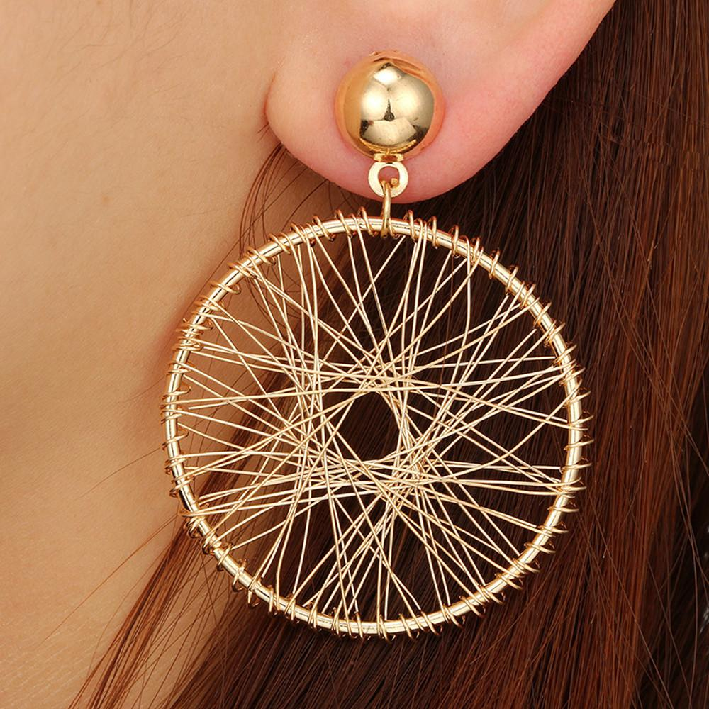 0374e46cf 2019 Personality Gear Mesh Earring Fashion All Match Geometric Big Round  Earring Jewelry Accessories Oorbellen Exquisite Bijoux From Greenparty, ...